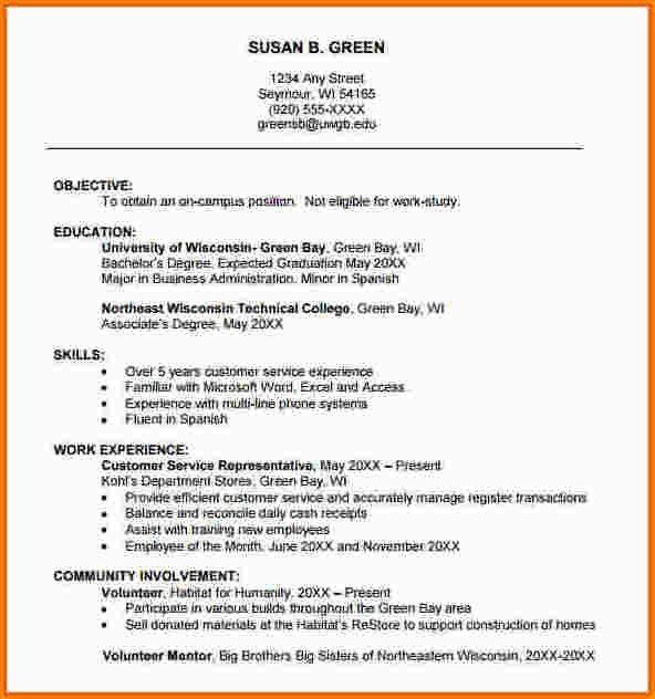 5+ college freshman resume template | paradochart