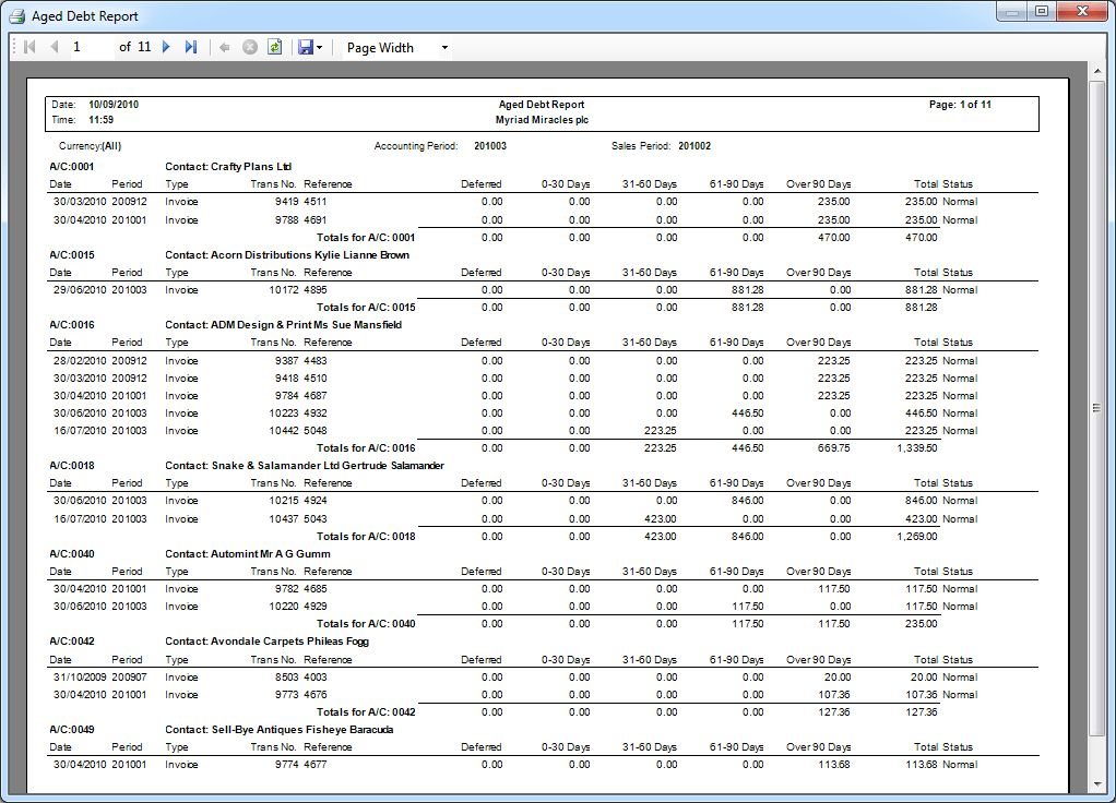 Small business ledger example |