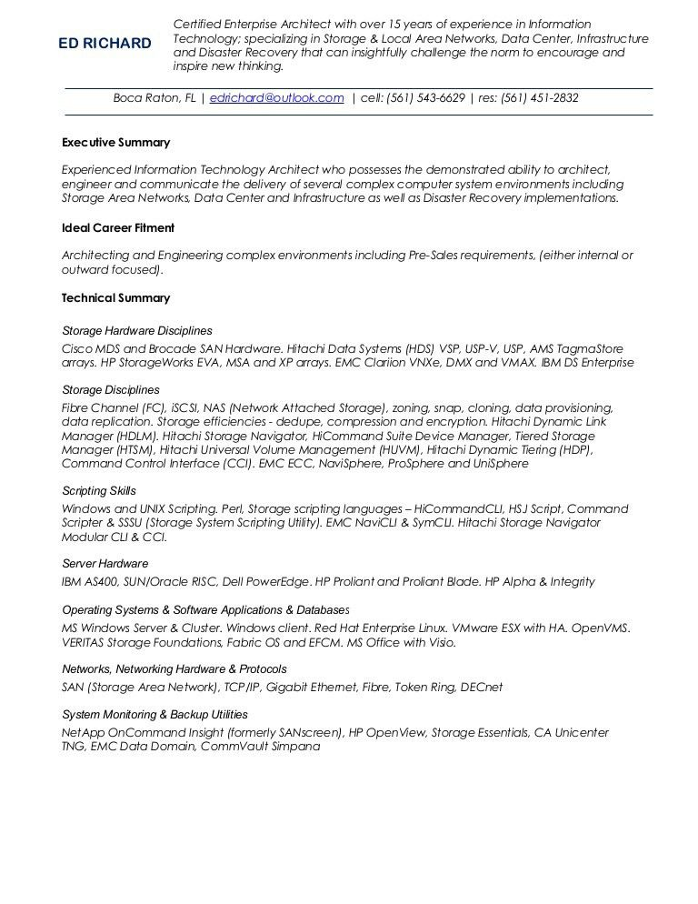 Ed richard resume