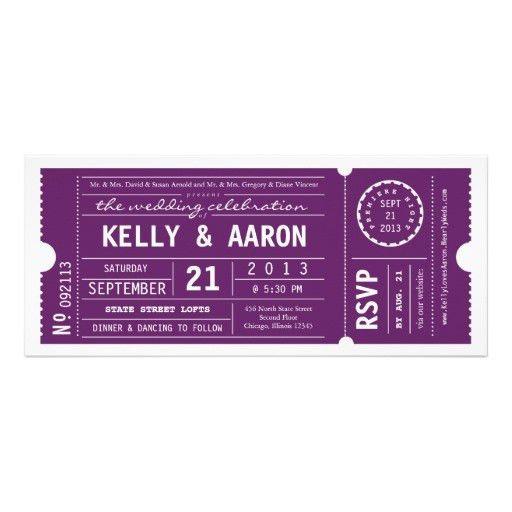Personalized Theater wedding Invitations | CustomInvitations4U.com