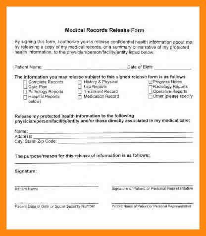 Medical Records Release Form. North Carolina Medical Records ...