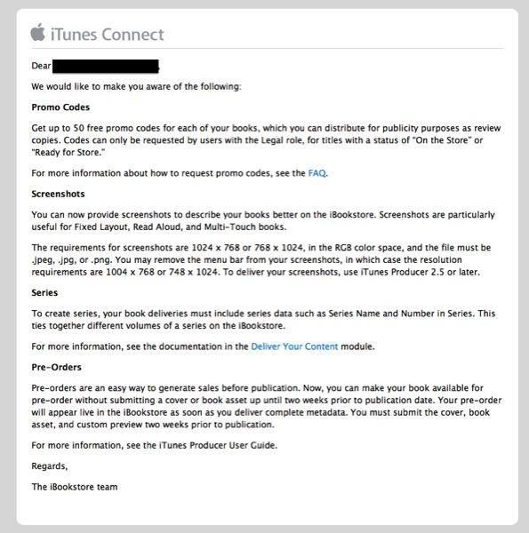 iBookstore adds new features for publishers