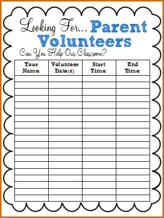 10+ volunteer sign up sheet template | Authorizationletters.org