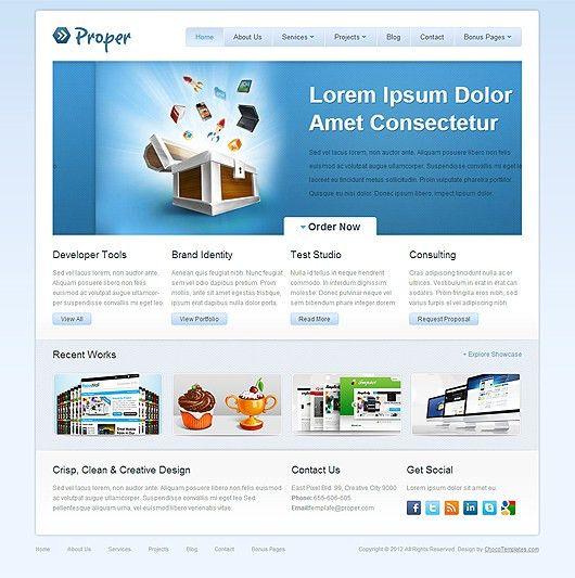 Proper – Free HTML5 CSS3 Template | Html5Mania.com | HTML5 Gallery ...