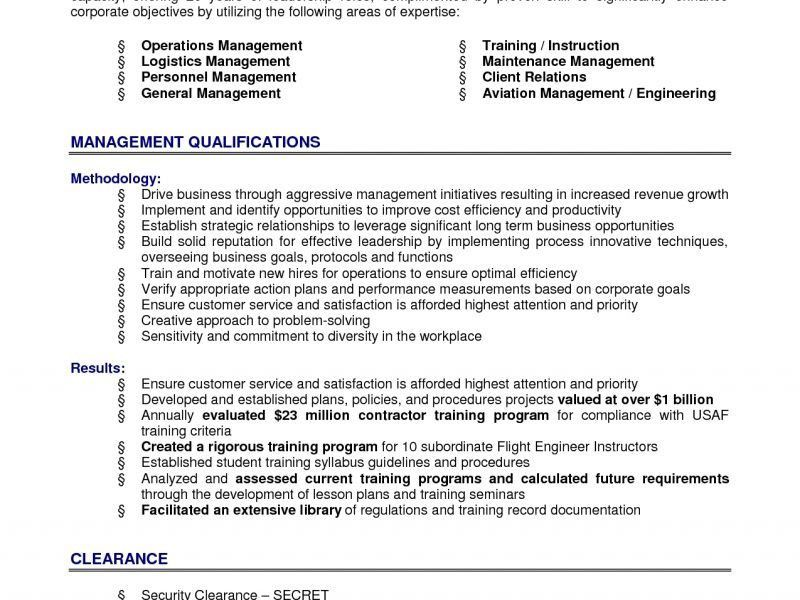 Resume Summary Example General - Templates
