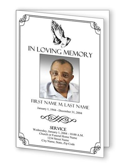 9 best Sample Funeral Programs images on Pinterest | Funeral ...