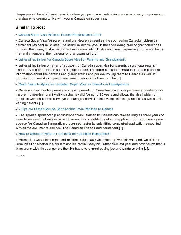 6 Best Tips for Purchasing Medical Insurance for Canada Super Visa