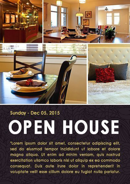 Real Estate Open House Flyers by kinzi21 on Creative Market ...