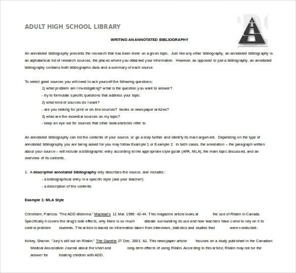 15+ Word Annotated Bibliography Templates Free Download | Free ...