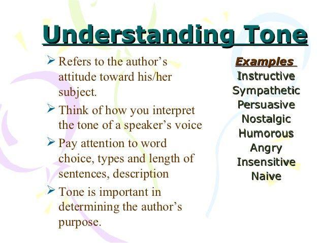 Tone purpose