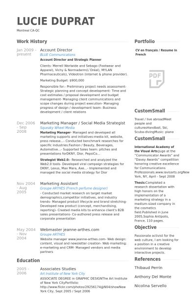 Account Director Resume samples - VisualCV resume samples database