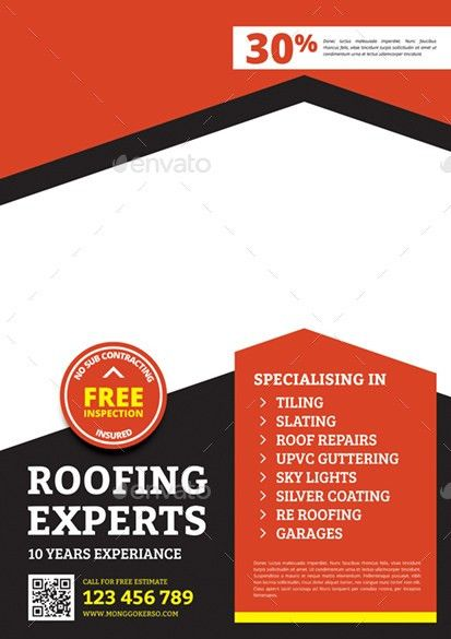 Roofing Flyer by monggokerso | GraphicRiver