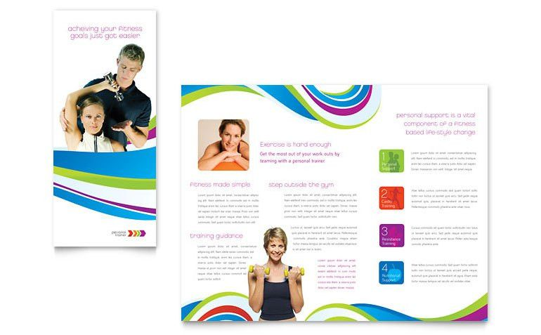 Personal Trainer Brochure Template - Word & Publisher
