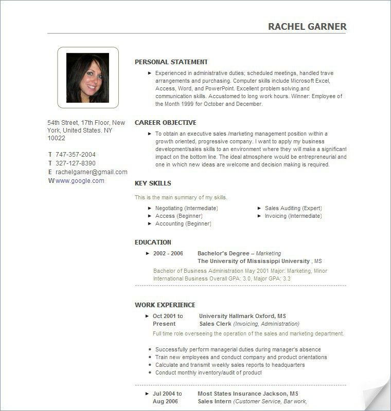 it sample resume template 2 column resumes templates pics free ...