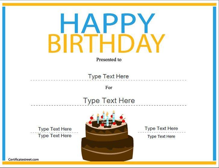 Printable Birthday Certificates | Certificate Templates
