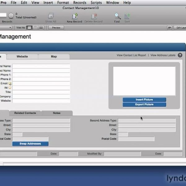 Filemaker Pro: Creating Databases From Templates | Lynda – Youtube ...