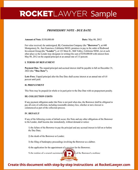 5+ simple promissory note template | teknoswitch