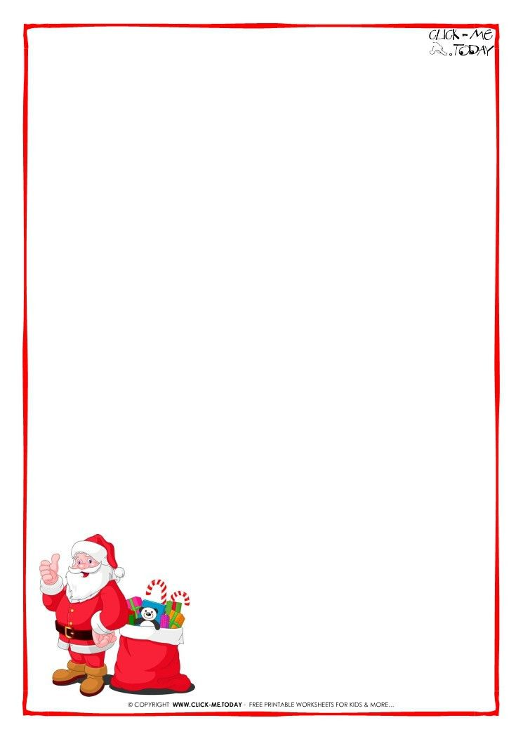 Letter to Santa Claus paper - blank template Santa presents-7