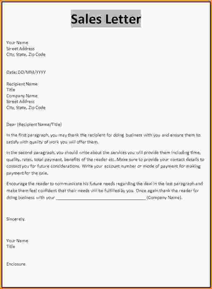 Sale Letter Format 9 Sales Letter Templates Free Sample Example – Sale Letter Template