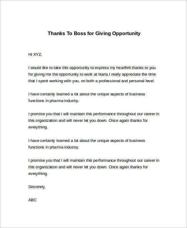 Thank You Letter For Business Opportunity | The Best Letter Sample