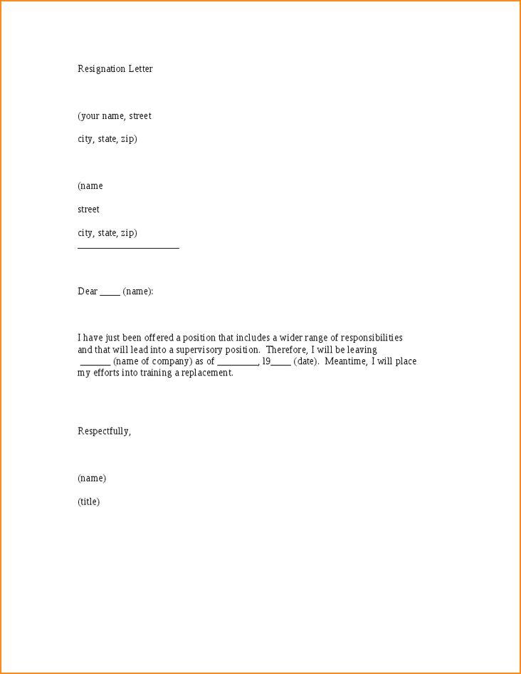 8+ 2 months notice resignation letter - Basic Job Appication Letter