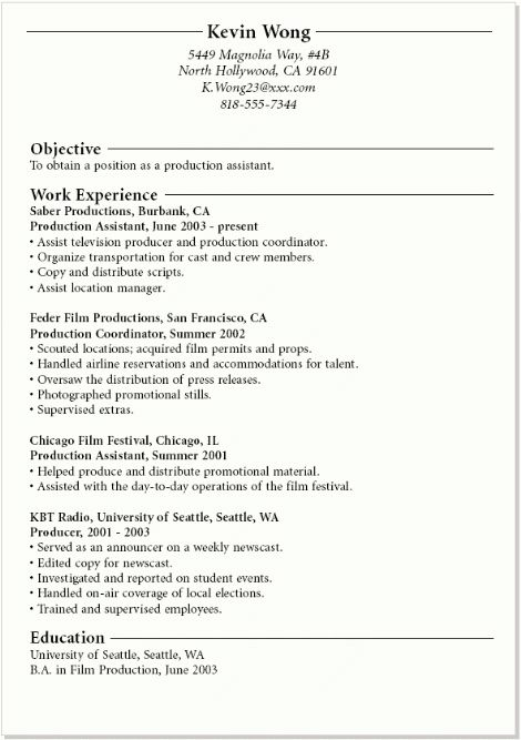 Awesome Sample Resume For Recent College Graduate With No ...