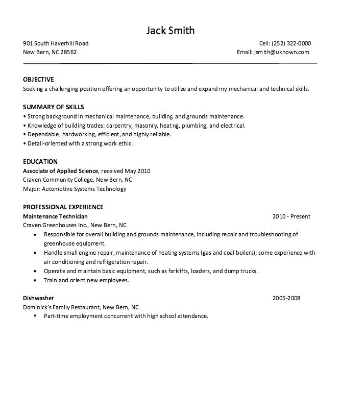 Dishwasher Restaurant Resume Sample - http://resumesdesign.com ...