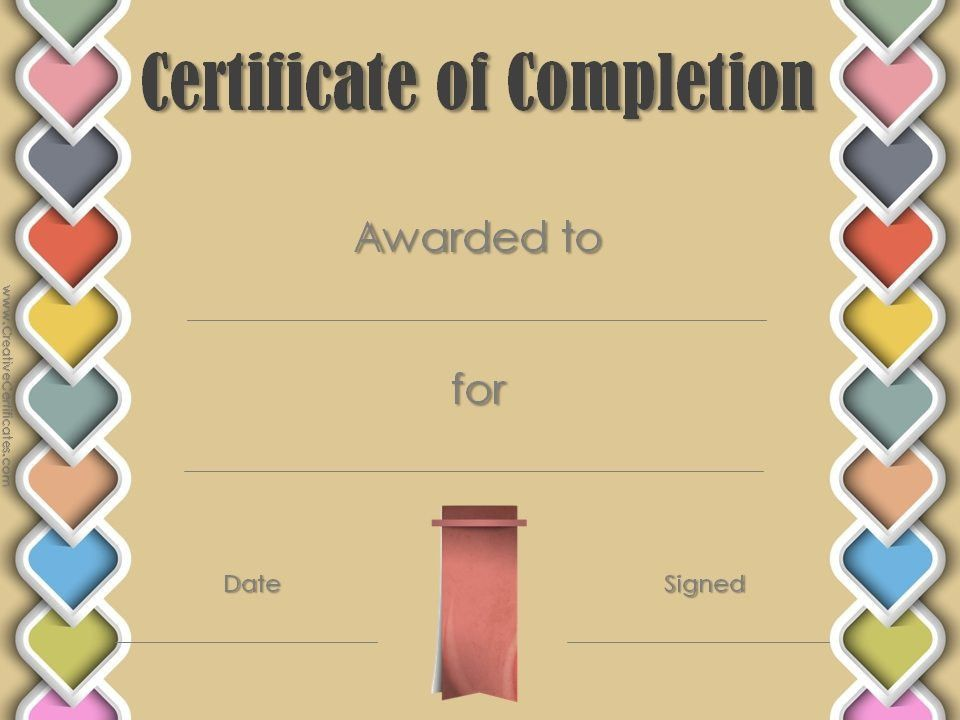 Certificate of Completion Template | Customize Online