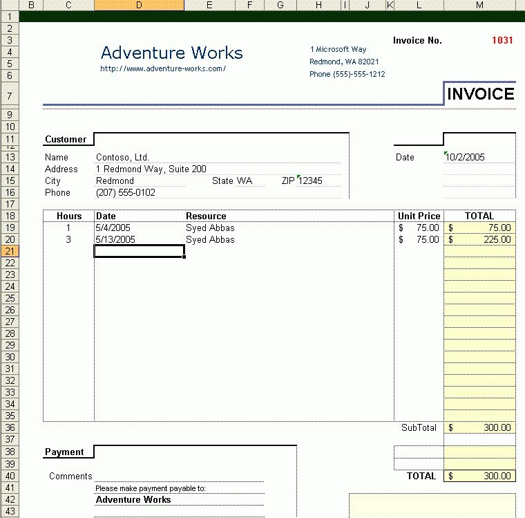 Building an Excel 2003 Invoice Application Using Visual Studio ...