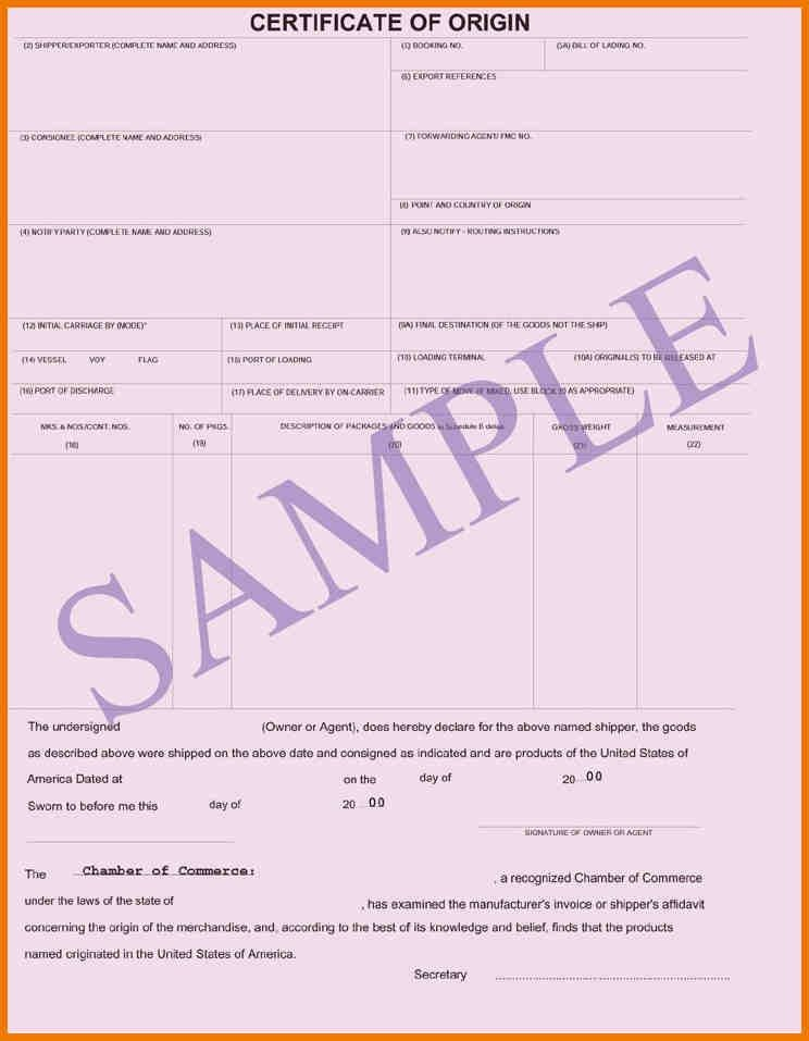 11+ certificate origin | postal-carrier