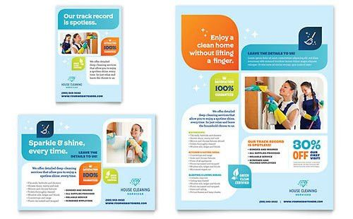 House Cleaning Service | Leaflet Templates | Home Maintenance