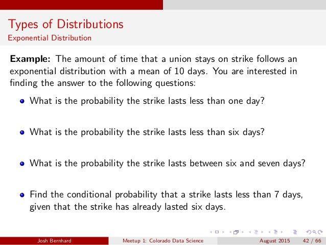CO Data Science - Workshop 1: Probability Distributiions