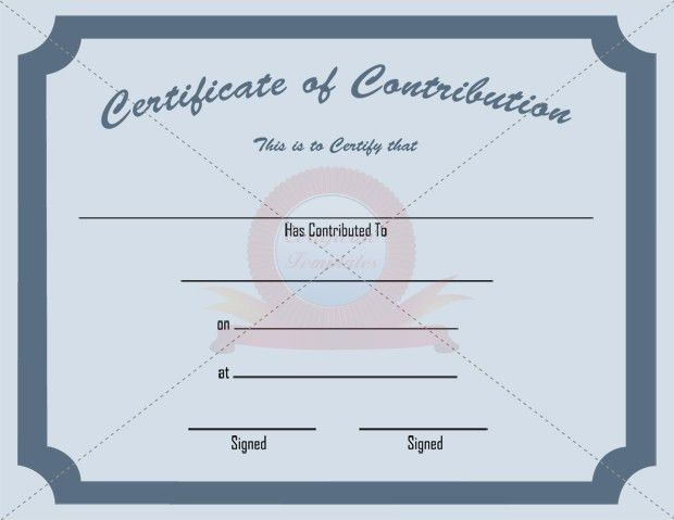 8 Best Images of Contribution Certificate Template - Free ...