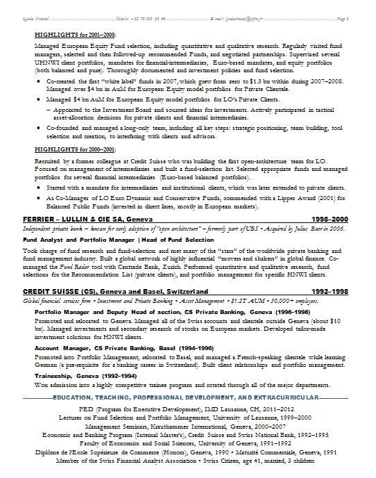 resume samples for banking professionals resume example banker