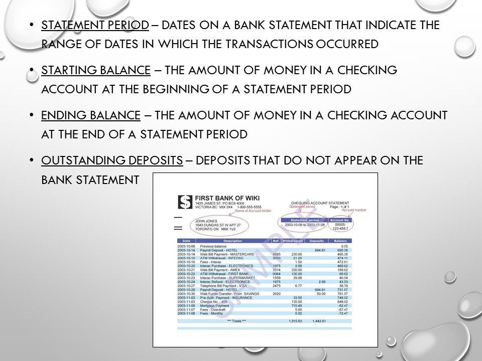 Reconcile a Bank Statement - ppt video online download