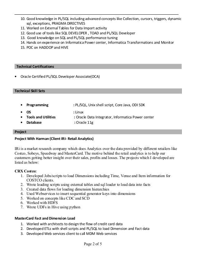 Sourabh Resume ETL+Java