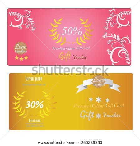Voucher Template Gold Gift Boxcertificate Background Stock Vector ...