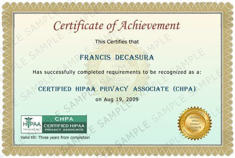 HIPAA Online Certification - HIPAA Training and Certification