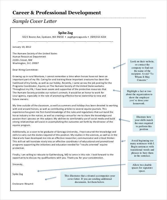 beginning a cover letter