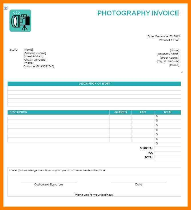8+ photography invoices | produce-clerk