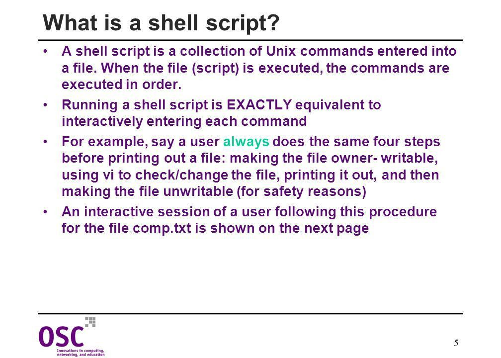 Korn Shell Script Writing & HPC - ppt download
