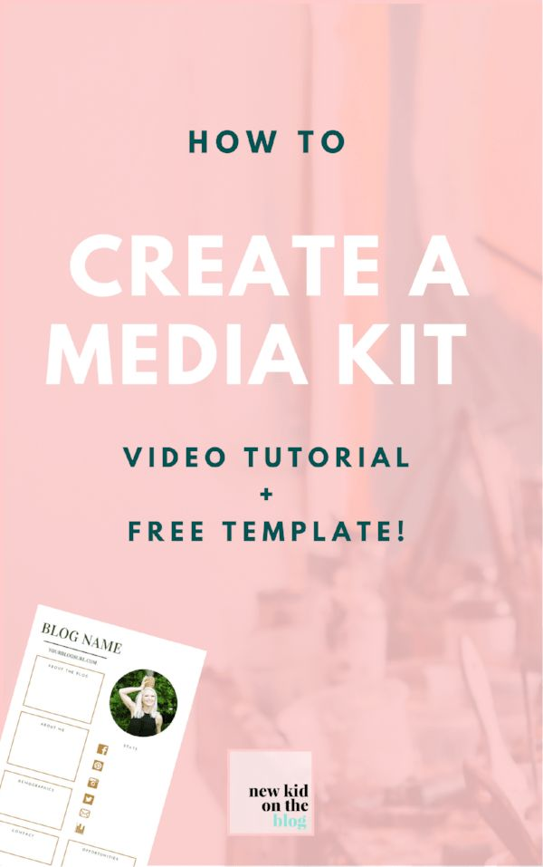 How to create a media kit [video tutorial + free template] — New ...