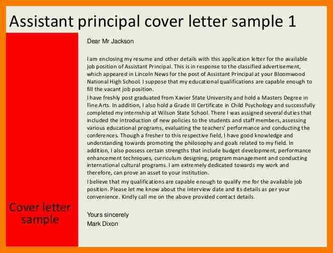 12+ assistant principal cover letter | park-attendant
