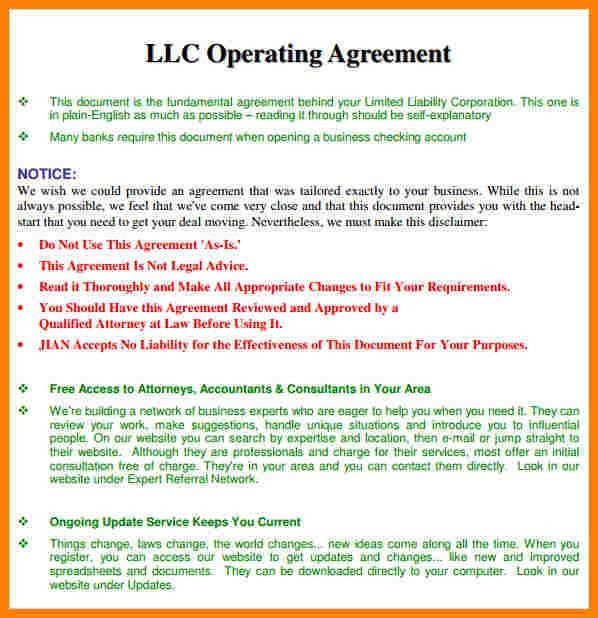 7+ sample operating agreement | Introduction Letter