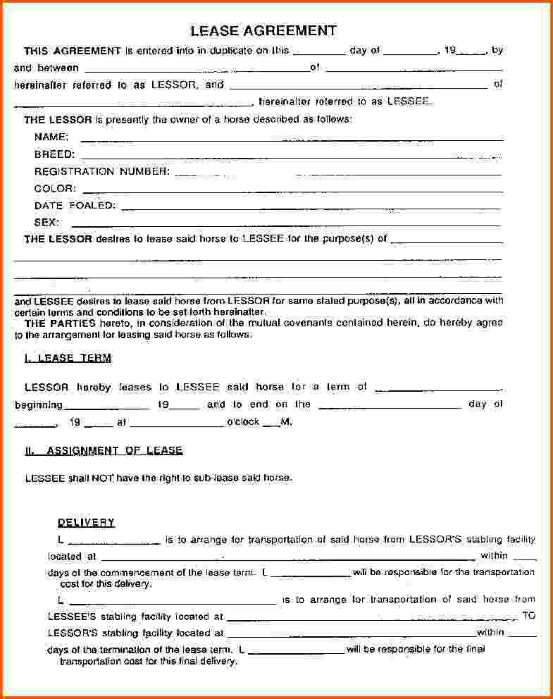 7+ lease agreement format | Survey Template Words
