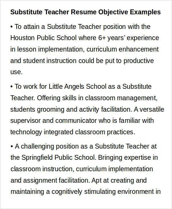 Glamorous Teacher Resume Objective 56 In Resume For Graduate ...