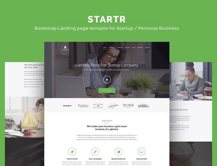 Bootstrap landing page themes on BootstrapZero
