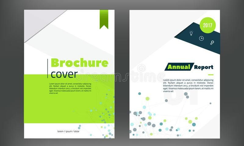 Futuristic Annual Report Cover Set. Brochure Or Flyer Template In ...