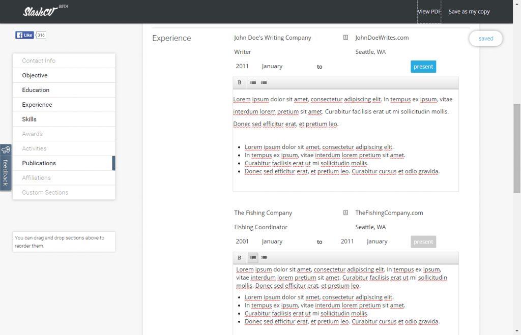 Free Resume Maker Online Tool | Professional resumes sample online
