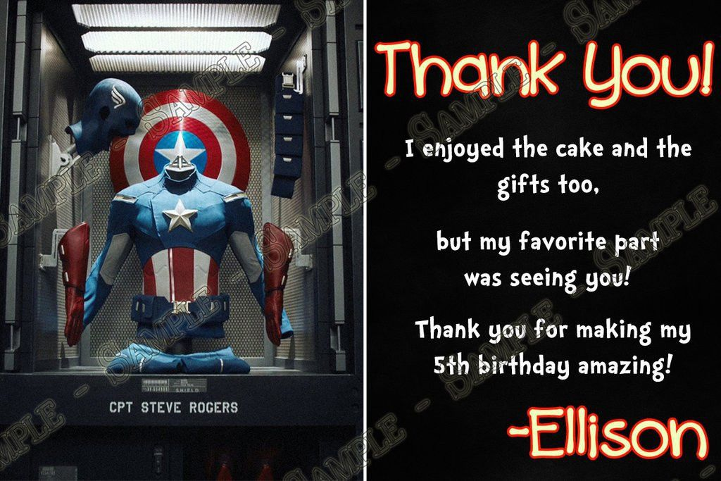 Novel Concept Designs - Captain America Birthday Party Ticket ...